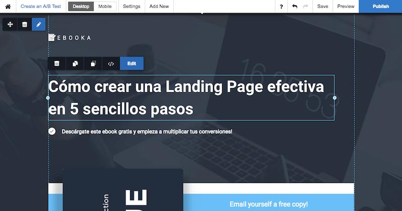 Crear Landing Page con Instapage